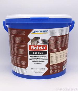 Ratzia Bag B 25 Rattenköder Schopf Hygiene
