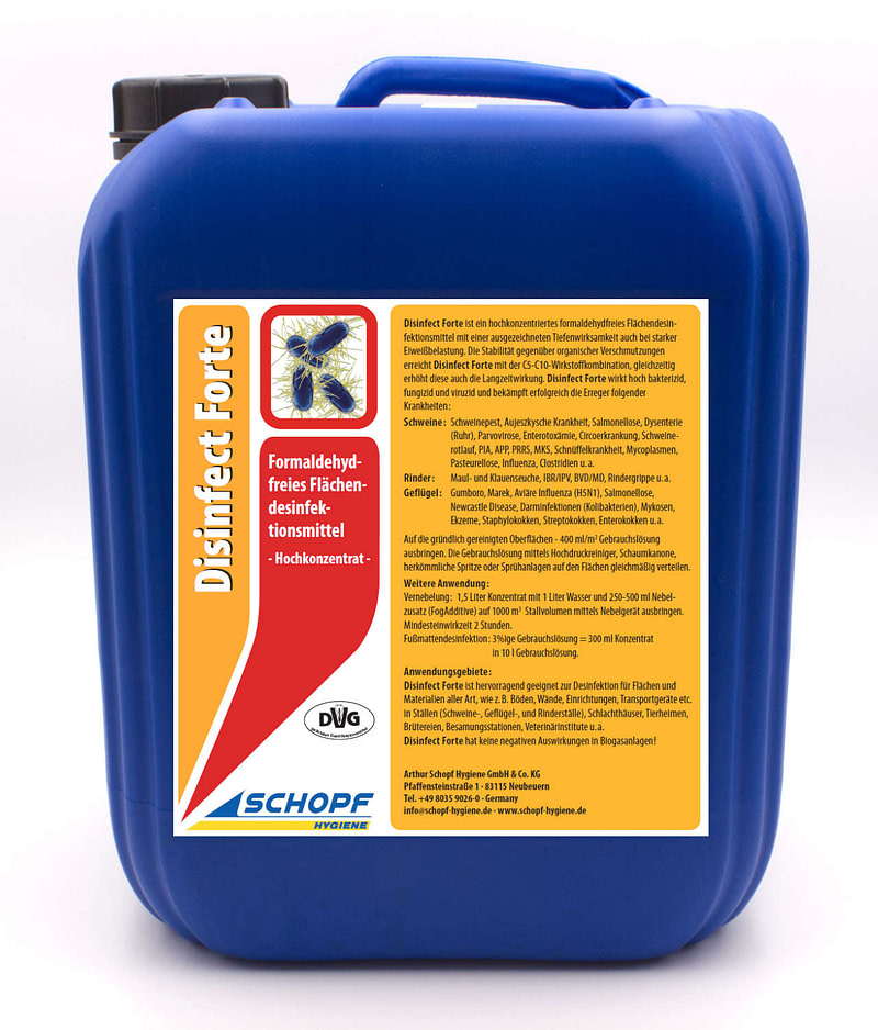 Disinfect Forte Flächendesinfektion Schopf Hygiene